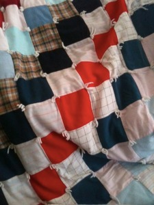 A patchwork quilt from random scraps.