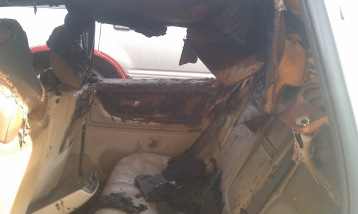 Car interior.