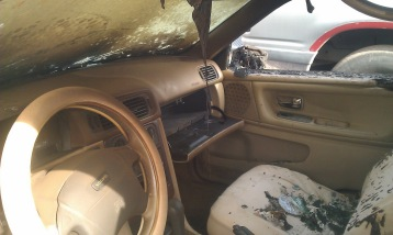 More interior of the car.