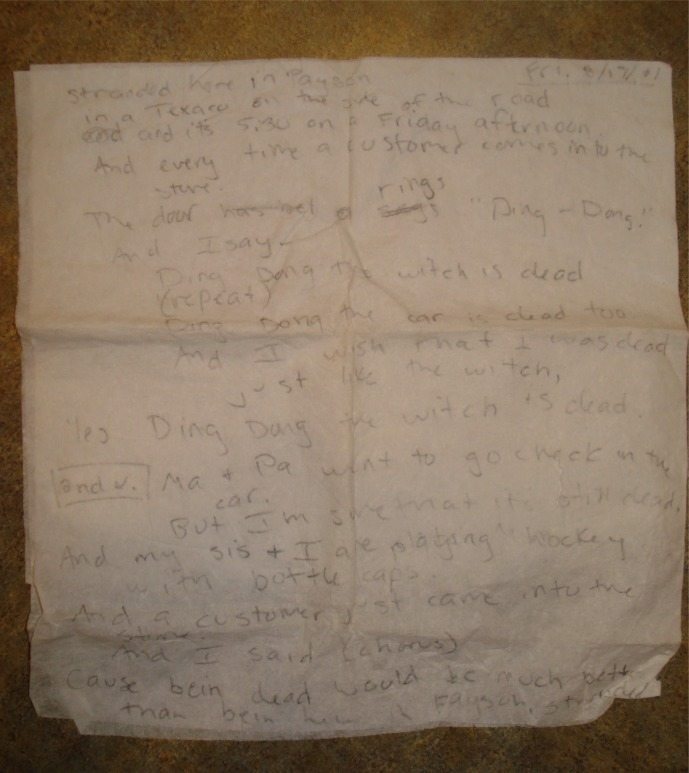 The ONE AND ONLY ORIGINAL someday-worth-millions NAPKIN.
