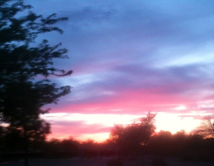 Classic Arizona sunset. Perfect way to end a day.