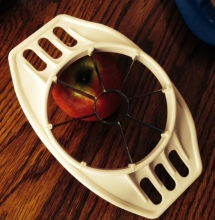 The infamous apple cutter corer thing.