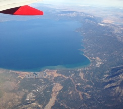 Lake Tahoe from my window seat.