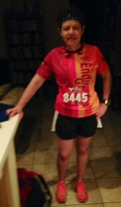 Just another early morning for her. We left for the race at 3:45 a.m.