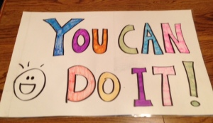 One of several signs I'd whipped up for the occasion.