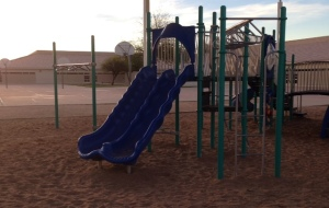 It's spring break in our school district here, so the playground's quiet.