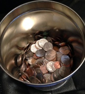 Our change jar.