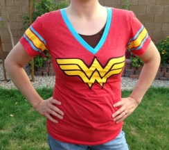 You can't always see the Wonder Woman logo, but the wonderful is always in the woman!