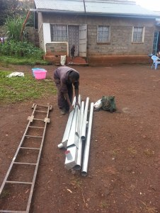 Rain gutters to aid in water collection.