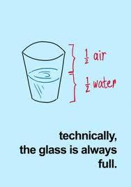 water glass full