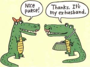 alligator purse