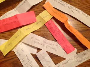 Some of the actual scraps of paper with blessings written down.
