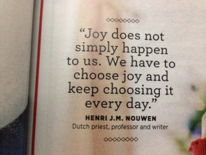 From a recent magazine. Great quote.