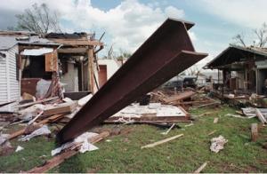 Wreckage. Photo by FEMA.