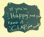 Clap, clap, clap!